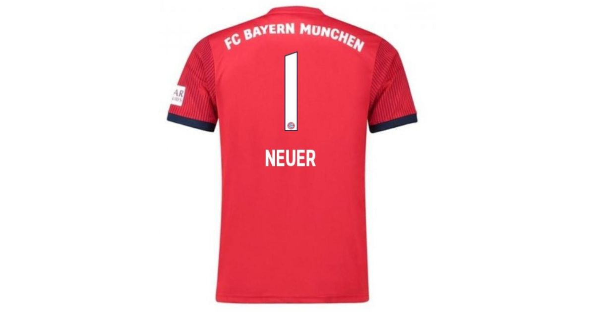 881714fc55d adidas 2018-2019 Bayern Munich Home Football Shirt (neuer 1) Men s T Shirt  In Other in Red for Men - Lyst