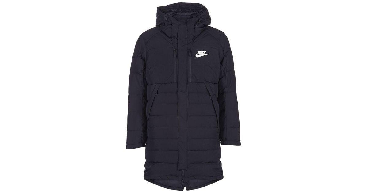 7a88b5037a79 Nike Down Fill Parka Men s Jacket In Black in Black for Men - Lyst