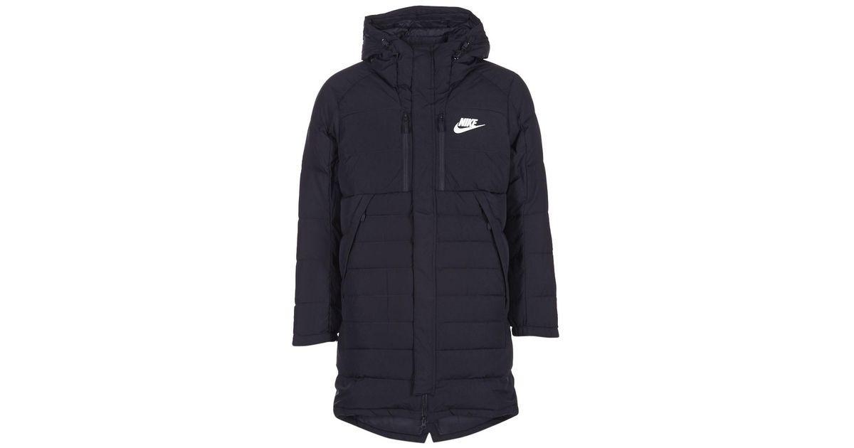 Nike Down Fill Parka Men s Jacket In Black in Black for Men - Lyst cea73db7795f