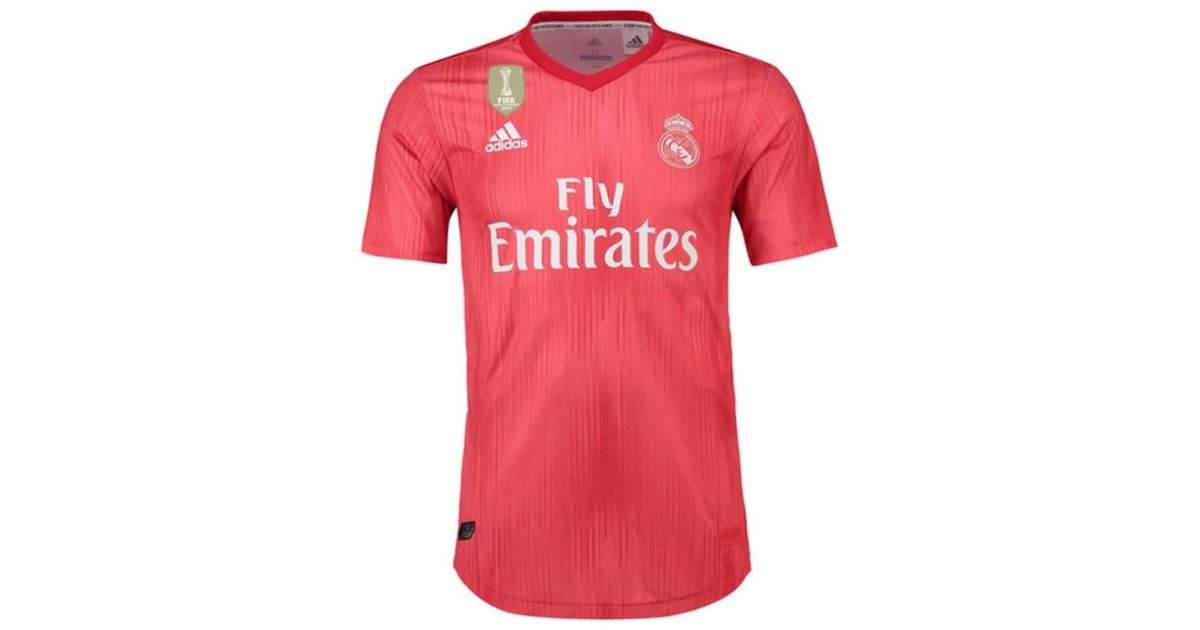225cfb7fb adidas 2018-2019 Real Madrid Authentic Third Football Shirt Men s T Shirt  In Red in Red for Men - Lyst