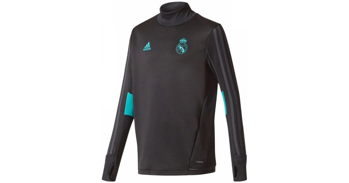 new arrival 5fc4c 54c63 Adidas 2017-2018 Real Madrid Training Top Men's Tracksuit Jacket In Black  for men