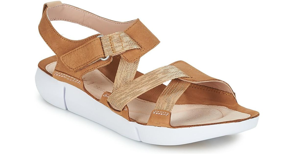 99559a4f2a59 Clarks Tri Clover Sandals in Brown - Save 13% - Lyst