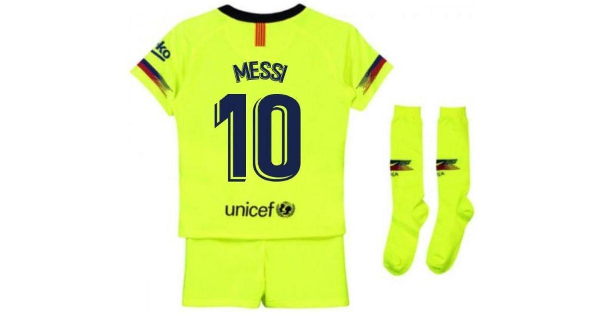 meet f36c9 3bc48 Nike 2018-2019 Barcelona Away Little Boys Mini Kit (messi 10) Men's In  Yellow for men