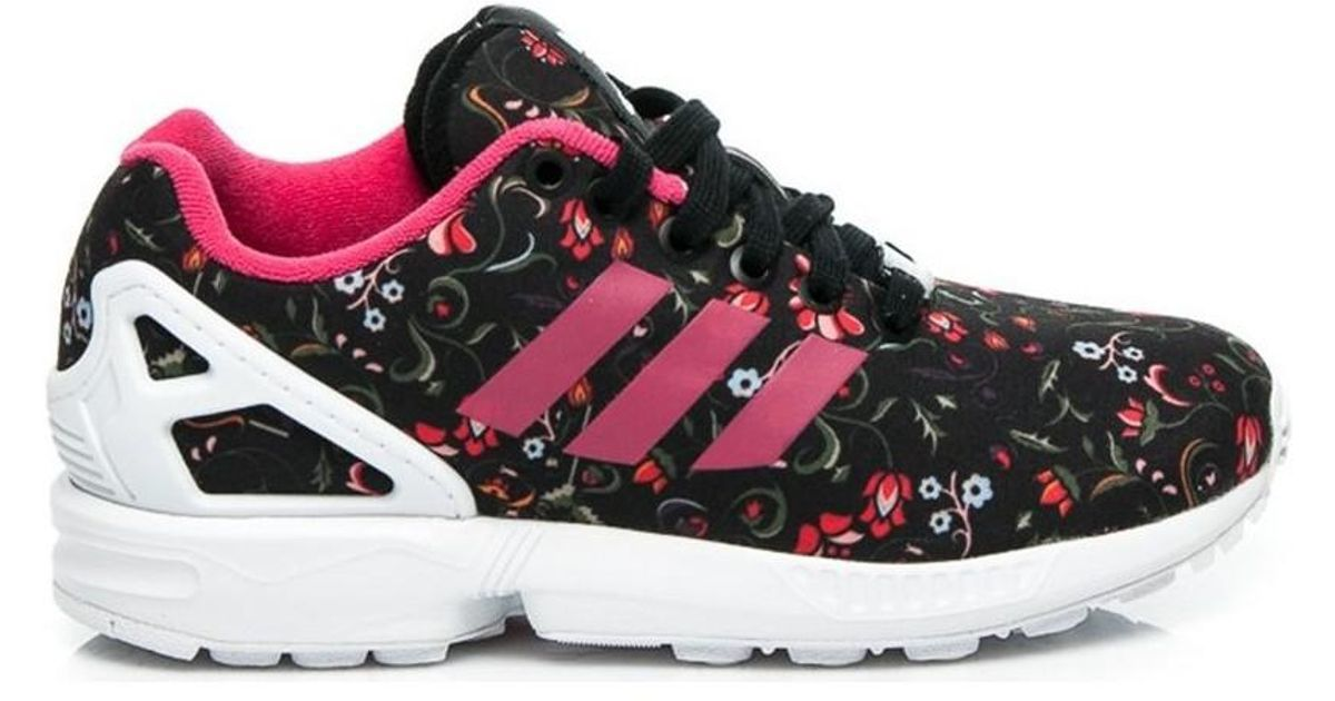 online retailer 81f6d bb970 Adidas Zx Flux Flower Pack Women's Shoes (trainers) In Red