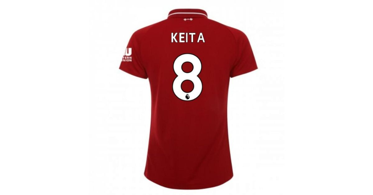 premium selection 297bf d36c1 New Balance 2018-2019 Liverpool Home Ladies Football Shirt (keita 8)  Women's T Shirt In Red