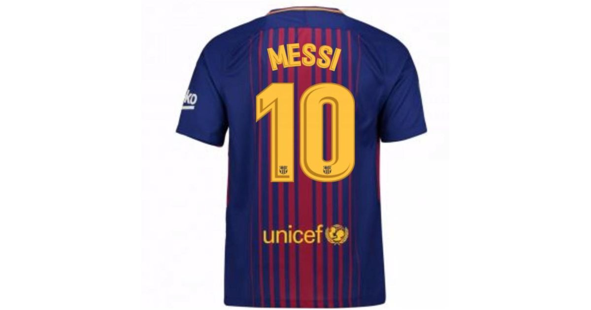 cheaper 032c1 bff06 Nike 2017-2018 Barcelona Home Shirt (messi 10) Men's T Shirt In Red for men