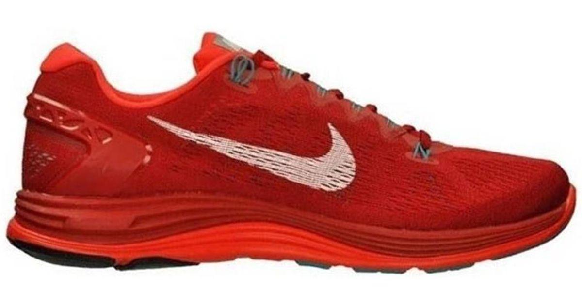 acheter en ligne 5100d 8ed01 Nike Lunarglide 5 Men's Running Trainers In Red for men