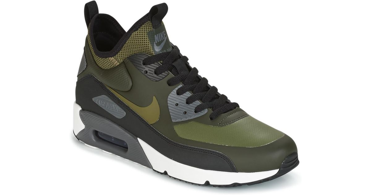 half off 89d7f 82be2 Nike Air Max 90 Ultra Mid Winter Men s Shoes (high-top Trainers) In Green  in Green for Men - Lyst
