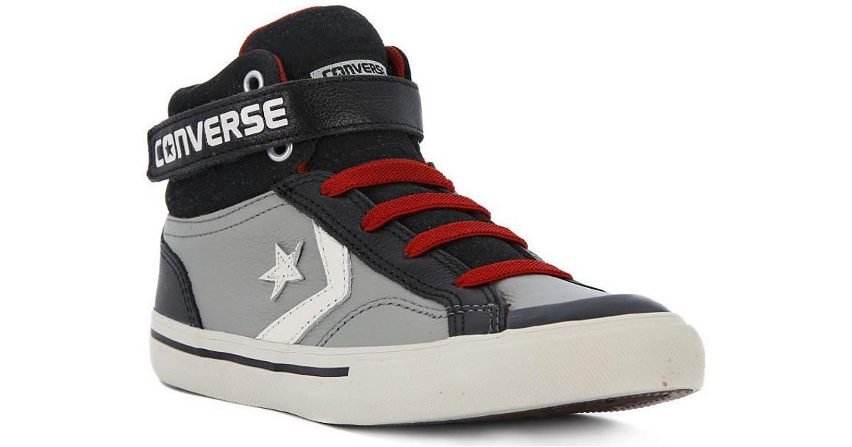 Converse Gray Pro Blaze Strap Men's Shoes (high top Trainers) In Grey for men
