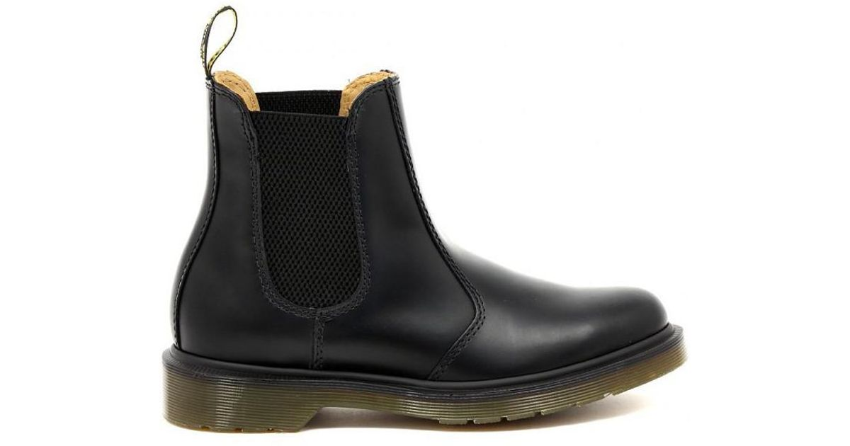 7d67a417369 Dr. Martens Chelsea Boot Black Smooth Men s Mid Boots In Multicolour in  Black for Men - Lyst
