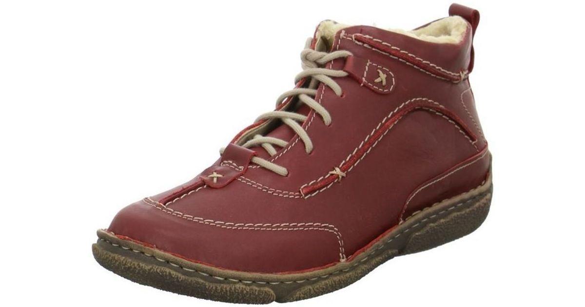 314a504289ec9 Josef Seibel Nikki Booties Women s Shoes (high-top Trainers) In Red in Red  - Lyst