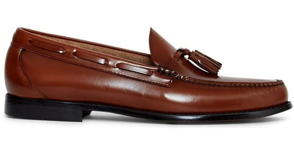 8a28038d67fbd G.H.BASS Brown Weejuns Larkin Tassle Loafers Tan Men's Loafers / Casual  Shoes In Other for men