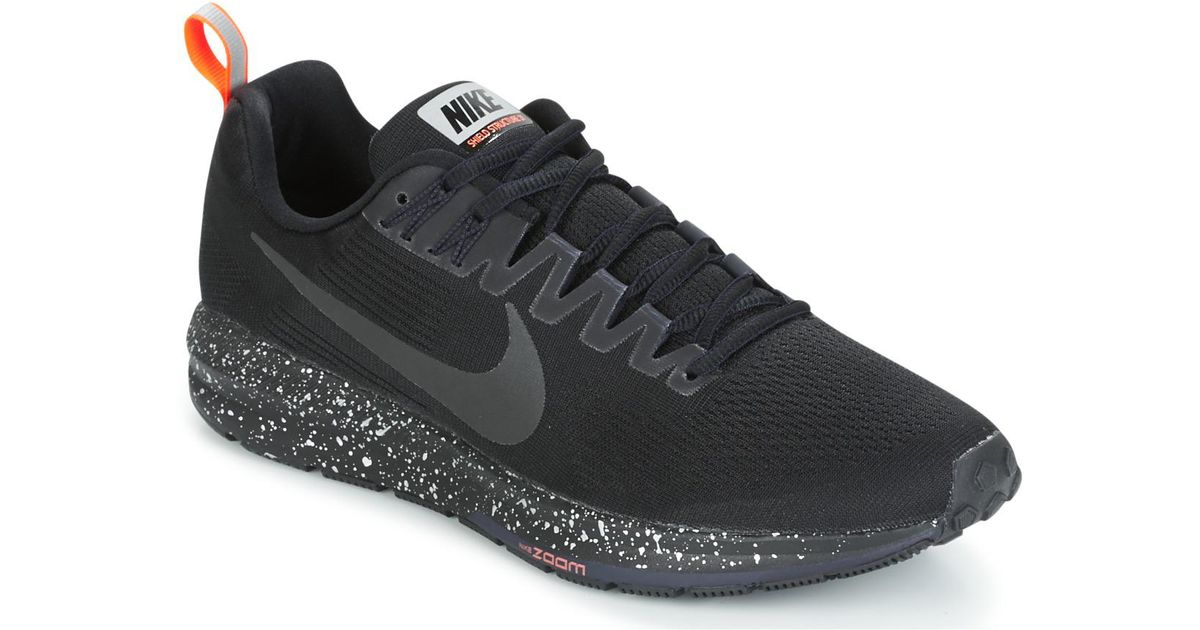 608556ae39408 Nike Air Zoom Structure 21 Shield Men s Running Trainers In Black in Black  for Men - Lyst