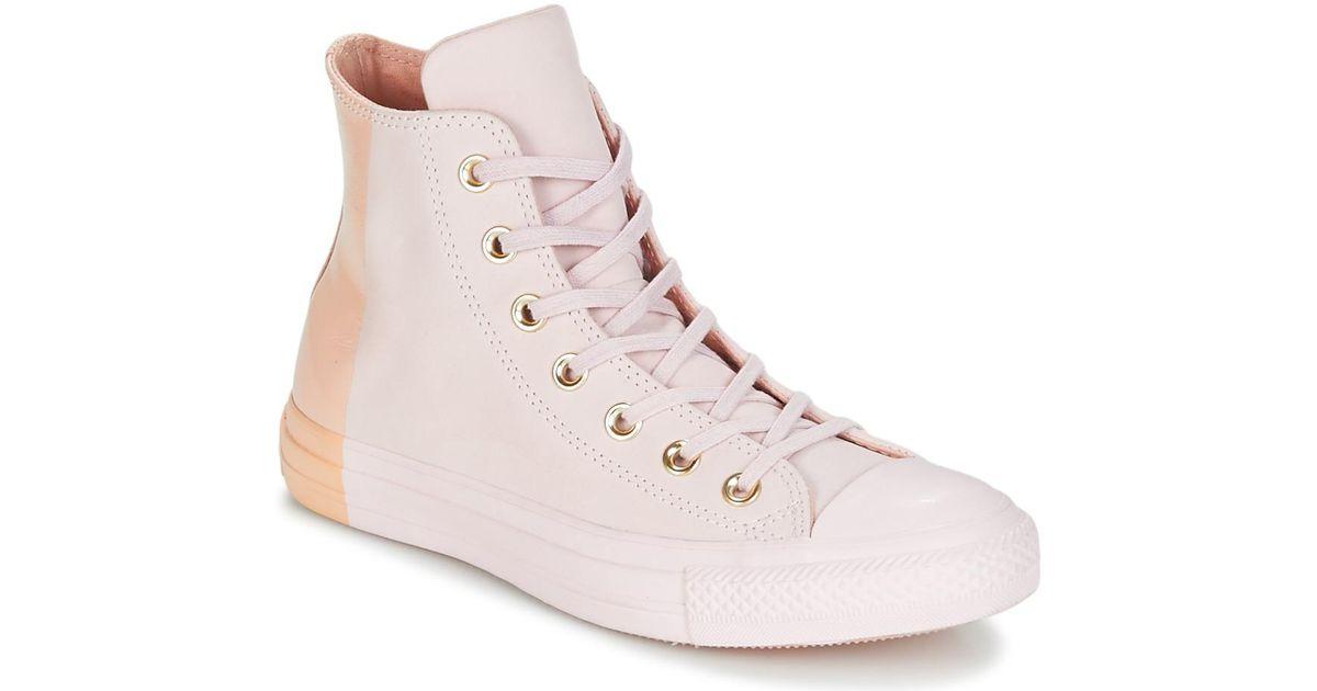 Chuck All Chaussures Rose Nubuck Taylor Hi Star Blocked En Femmes rdCxBeo
