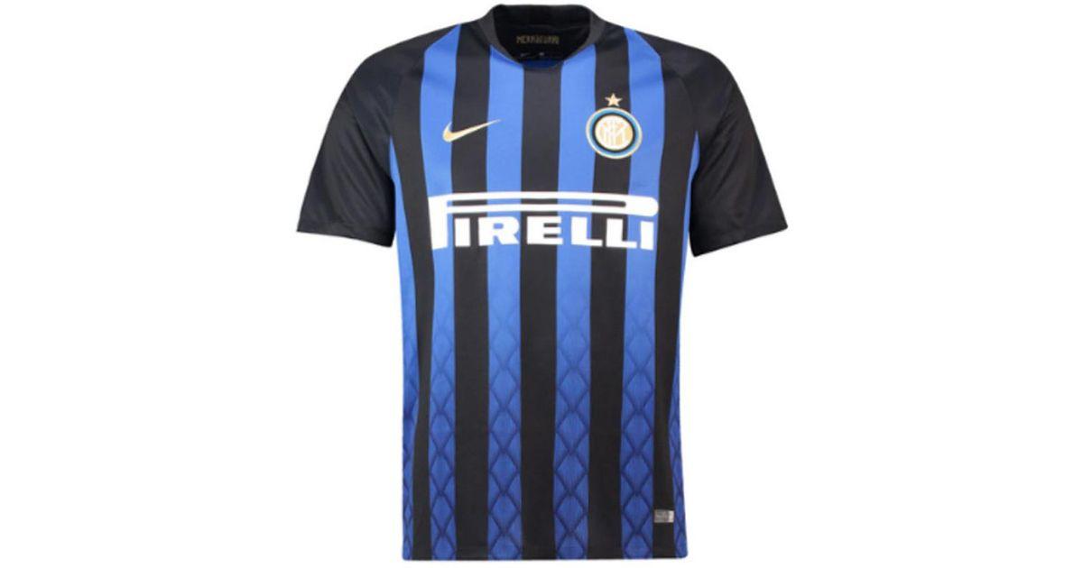 online retailer aaebd e40d6 Nike 2018-2019 Inter Milan Home Football Shirt (kids) Men's T Shirt In  Black for men