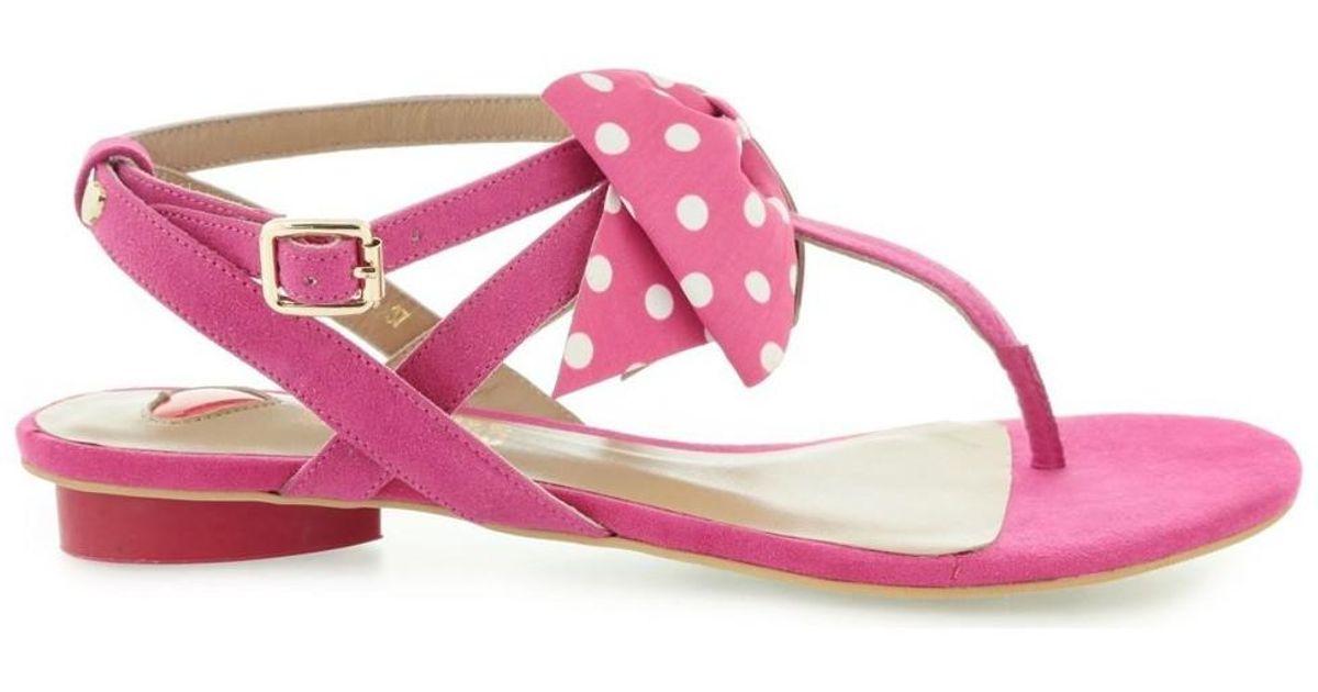 Moschino Sandalo LO DLAV0915 Campu Pois Nero Bianco women's Sandals in Cheap Find Great t2KaI1