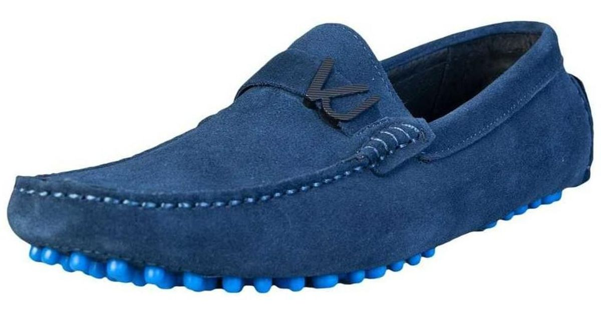 ba798c0374 Versace Loafers Shoes Eoyrbsf270073 Men's Loafers / Casual Shoes In Blue in  Blue for Men - Lyst