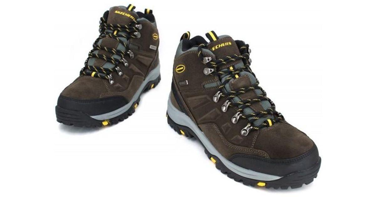 cc0d9f35692 Skechers Natural Relment Pelmo 64869 Men's Shoes (high-top Trainers) In  Beige for men