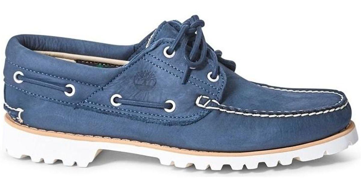 bdbf485cda4 Timberland Chilmark 3 Eye Handsewn Shoe Navy Men's Boat Shoes In Blue for  men
