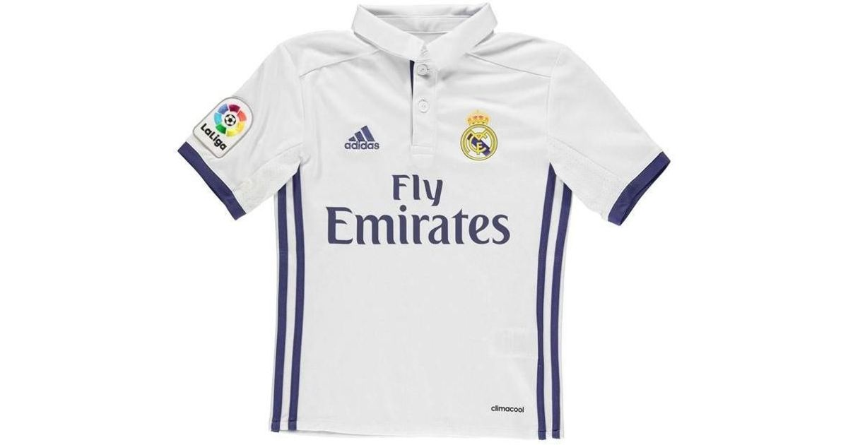 new products e8f7a 94372 Adidas 2016-17 Real Madrid Home Shirt (ronaldo 9) - Kids Men's T Shirt In  White for men