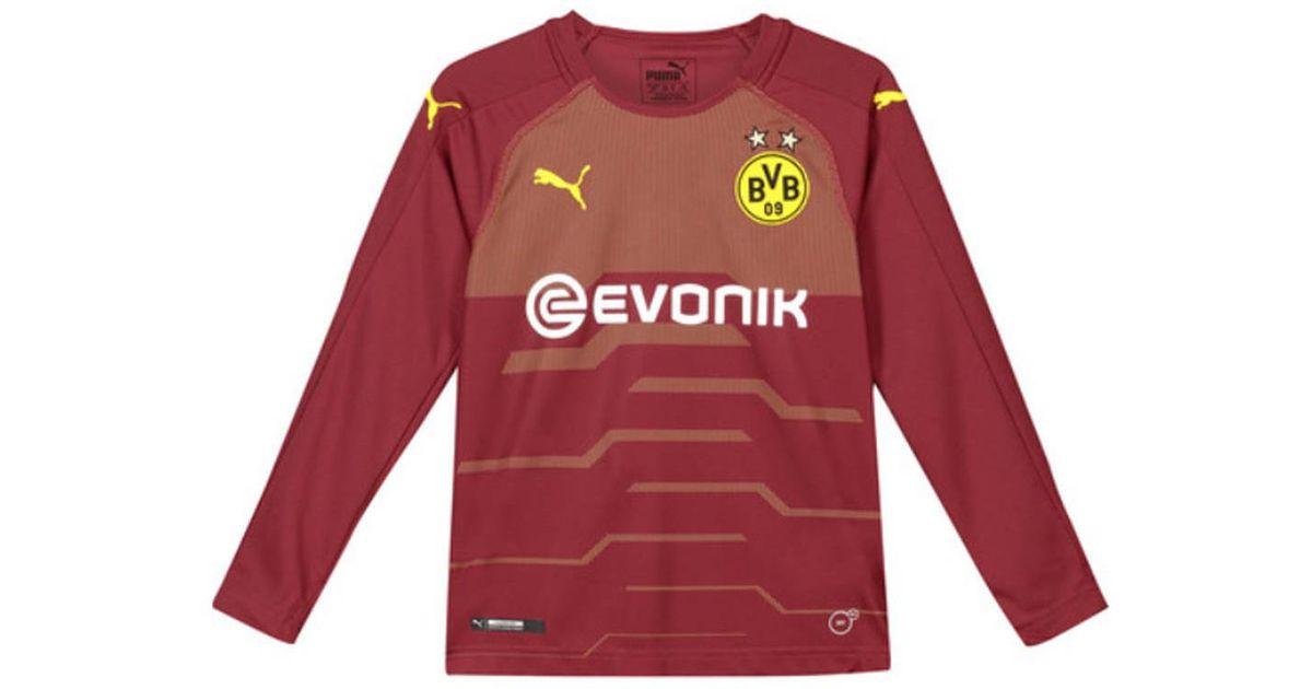 d535baa89f11d PUMA 2018-2019 Borussia Dortmund Away Goalkeeper Shirt Pomegranate (k  Girls's In Red for men