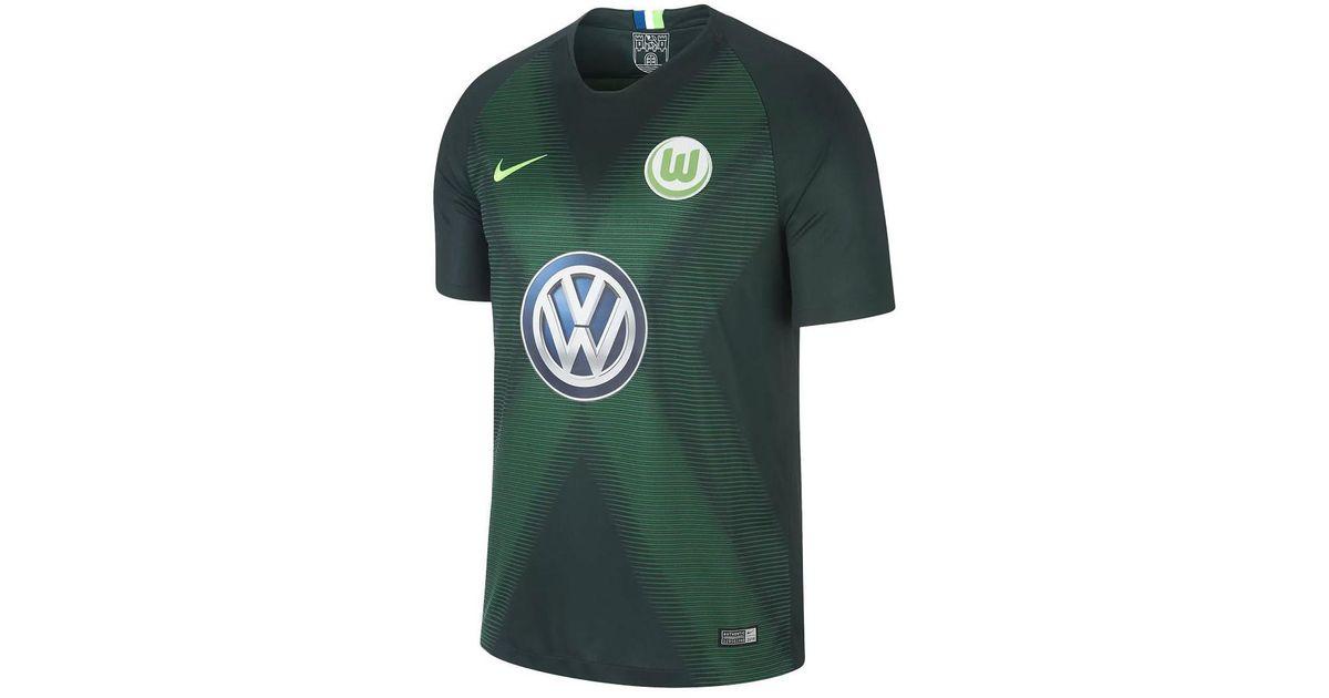 super popular 6e57d 8da48 Nike 2018-2019 Vfl Wolfsburg Home Football Shirt Women's T Shirt In Green