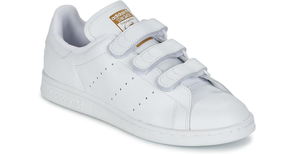 c329df2e15 adidas Stan Smith Cf Women's Shoes (trainers) In White in White - Lyst