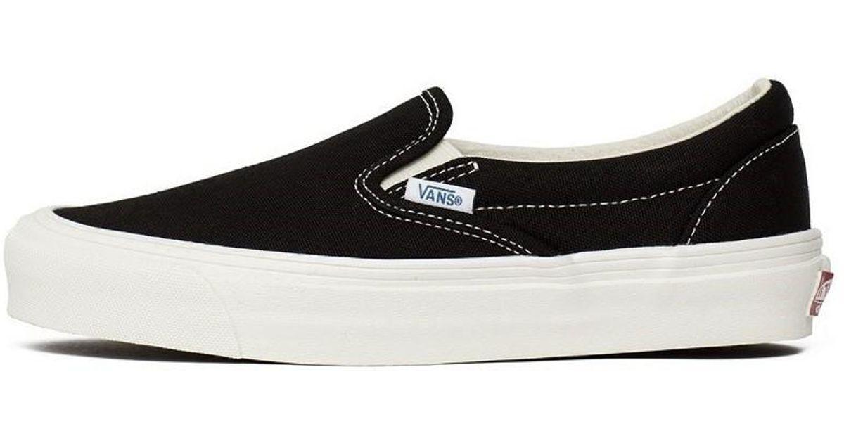 d0fd9011ce Vans Vault Og Classic Slipon Men s Slip-ons (shoes) In Black in Black for  Men - Lyst