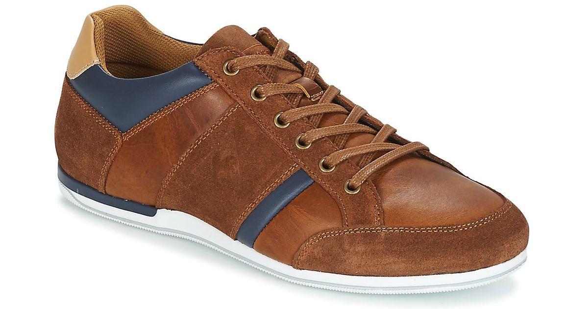 Bij vrijgave klassiek ziet er geweldig uit Le Coq Sportif Brown Cernay Leather/chambray Shoes (trainers) for men