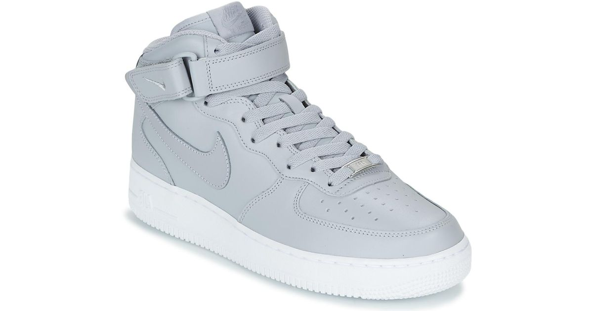 hot sale online 23ca7 b8145 Nike Gray Air Force 1 Mid 07 Men's Shoes (high-top Trainers) In Grey for men