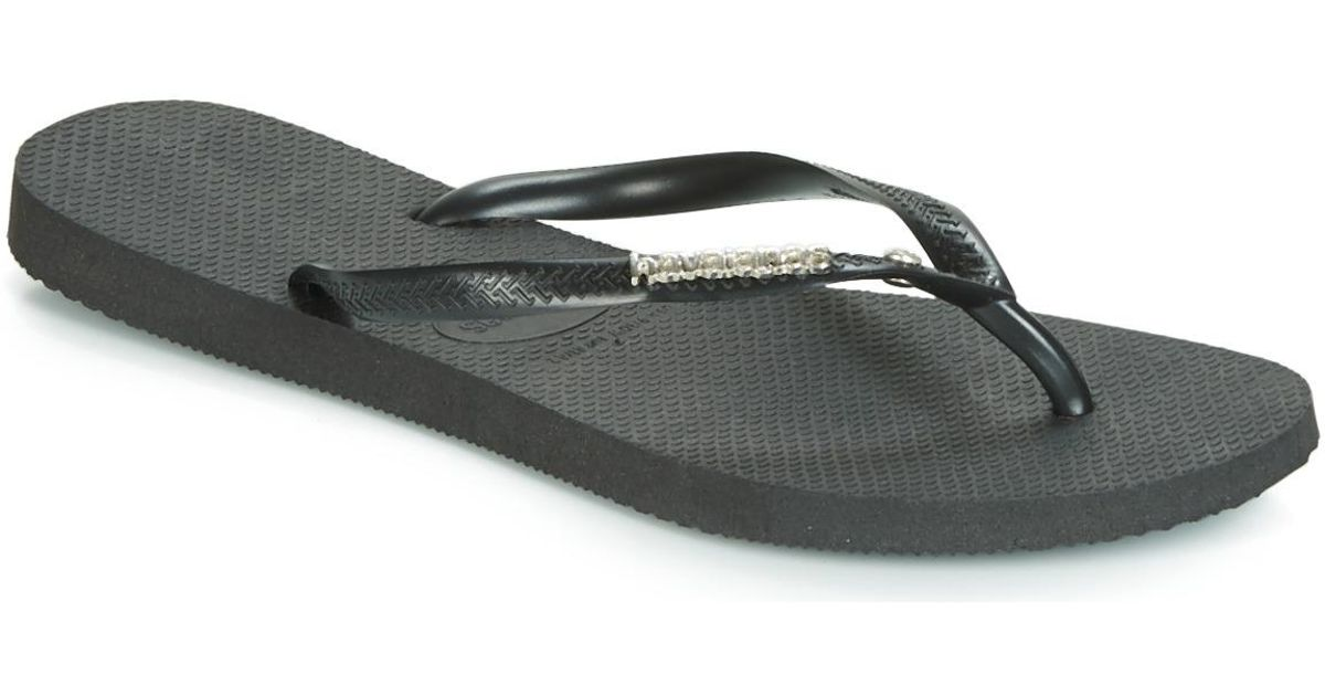 3084498448750a Havaianas Slim Logo Metallic Crystal Women s Flip Flops   Sandals (shoes)  In Multicolour - Lyst