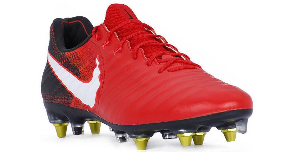 premium selection cd7a6 d7955 TIEMPO LEGEND VII SG PRO AC hommes Chaussures de foot en rouge Nike pour  homme en coloris Rouge - Lyst
