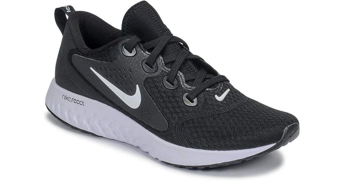 3e622eb9849c Nike Rebel React Women s Running Trainers In Black in Black - Save 26% -  Lyst