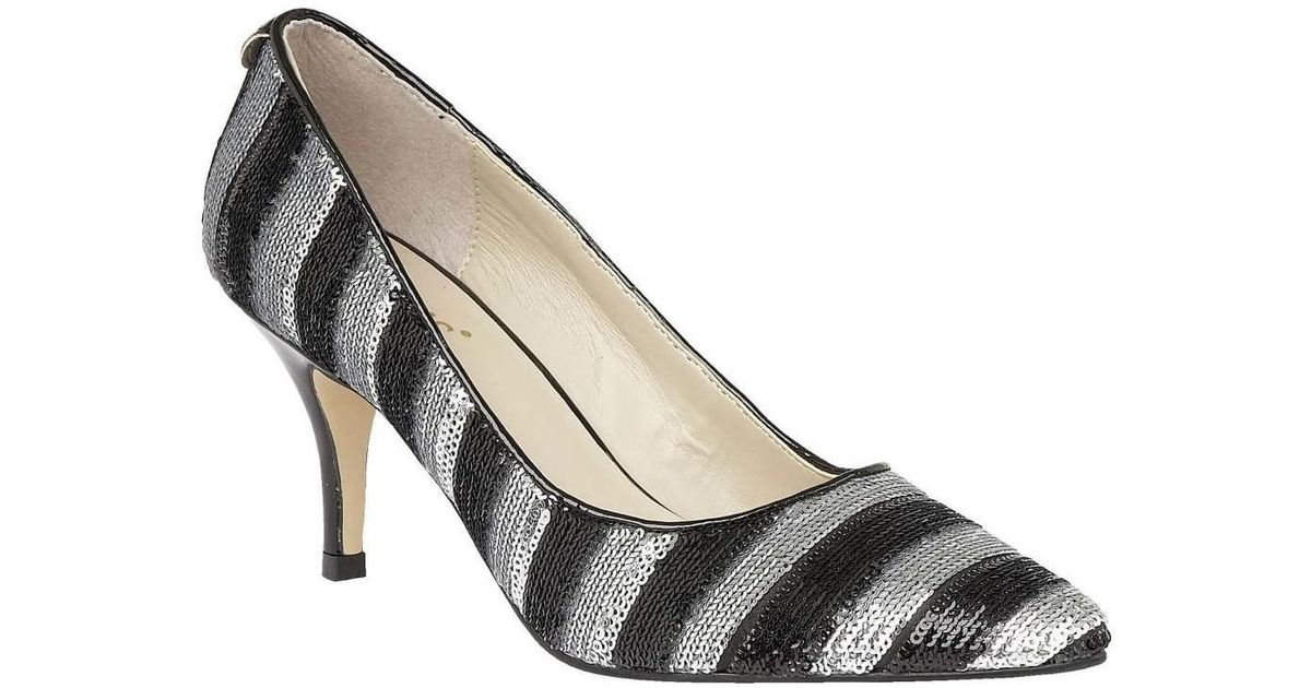 c2cf983b80087 Lotus Mosta Womens Dress Court Shoes Women's Court Shoes In Silver in  Metallic - Lyst