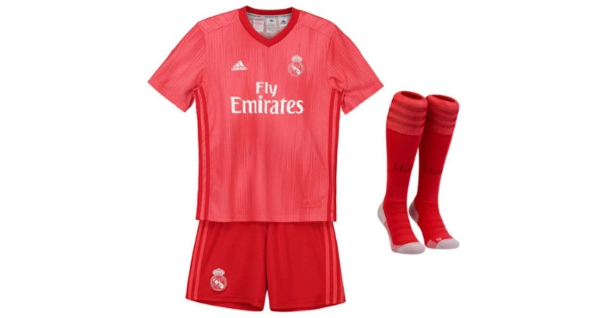 8b7c71de6a8 adidas 2018-2019 Real Madrid Third Full Kit (kids) Men's In Red in Red for  Men - Lyst