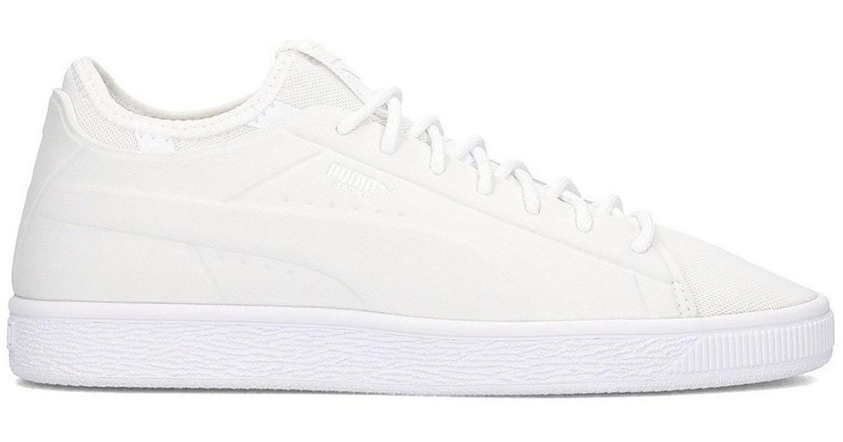 more photos 457f0 c7a1c PUMA Basket Classic Sock Lo Women's Shoes (trainers) In White