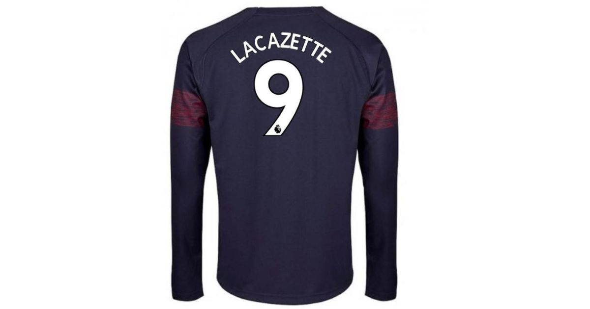 60b8797c PUMA 2018-2019 Arsenal Away Long Sleeve Shirt (lacazette 9) Women's In Blue  in Blue for Men - Lyst