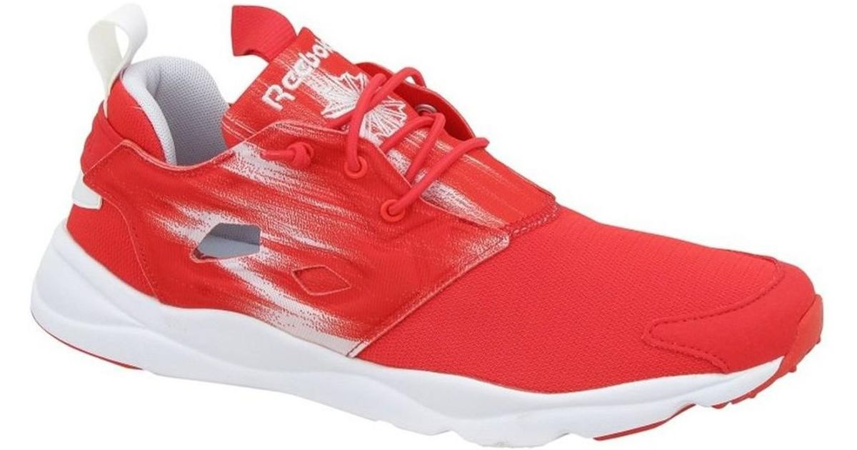 0bc9e07257e1 Reebok Furylite Contemporary Rbk Women s Shoes (trainers) In Red in Red -  Lyst