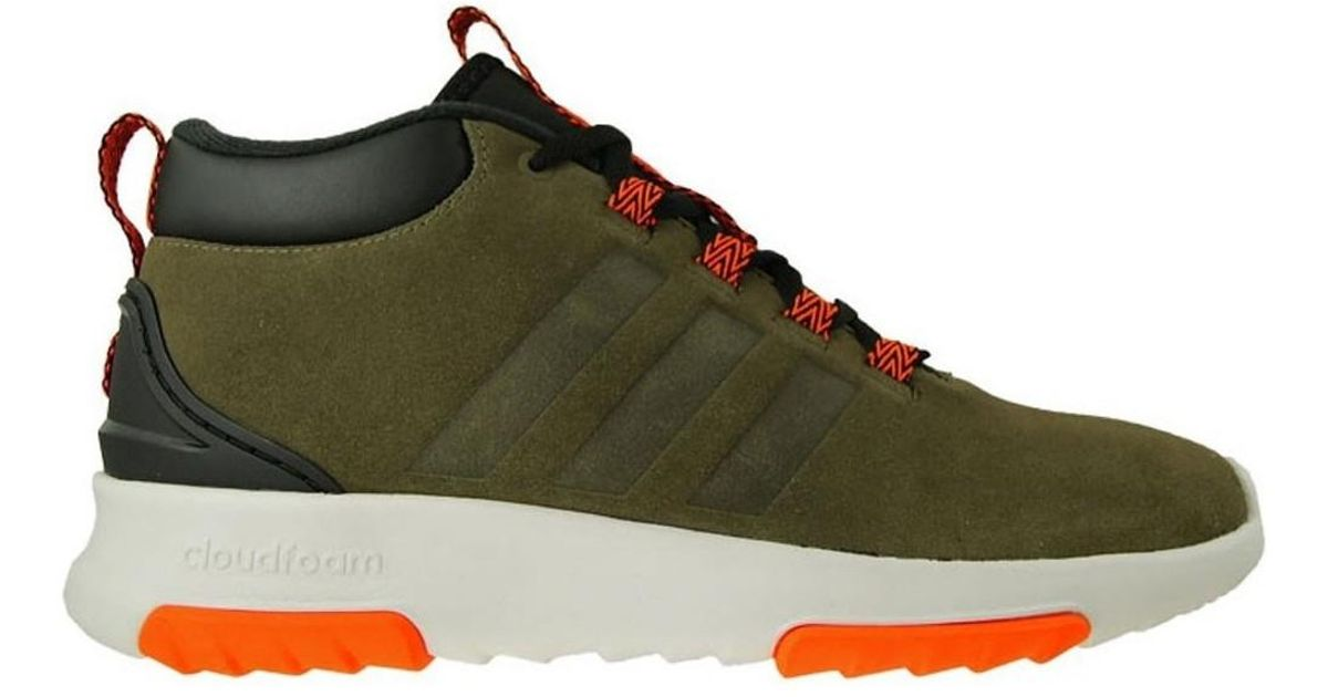 Adidas Cf Racer Mid Wtr Men's Shoes (high-top Trainers) In Black for men