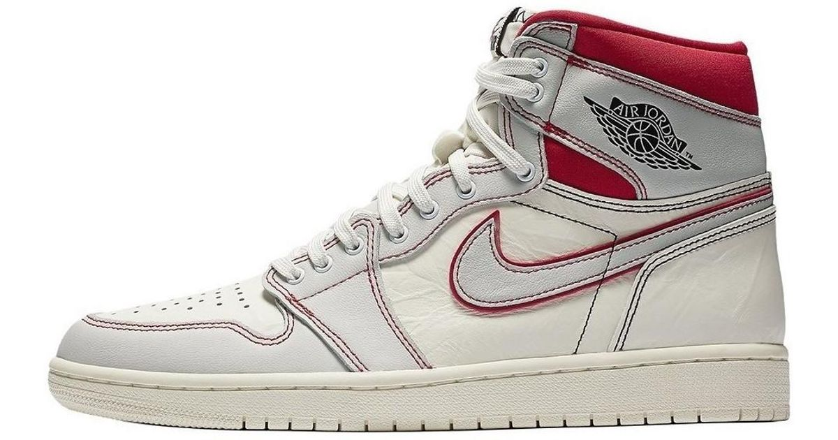 buy popular 1c12e 741cc Nike Air Jordan 1 Retro High Og Men s Shoes (high-top Trainers) In White in  White for Men - Lyst