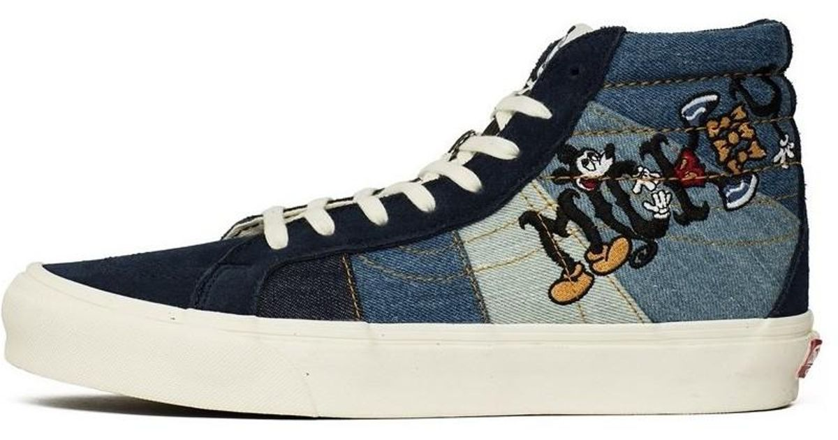 cfc4810c72 Vans Vault Ua Og Sk8hi Le Lx X Mickey 90th Anniversary Men s Shoes (high-top  Trainers) In Blue in Blue for Men - Lyst