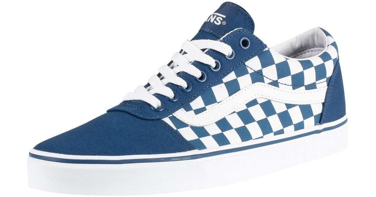 Homme Entraîneurs Ward Damier, Bleu hommes Chaussures en bleu Vans ...