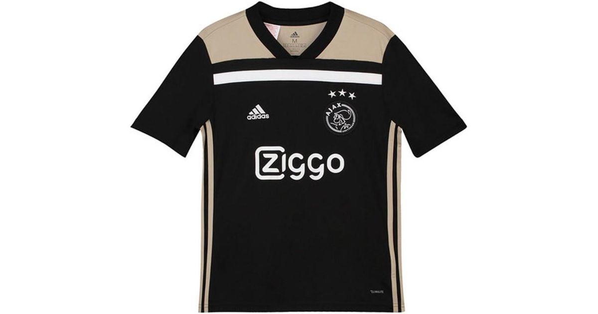 db093a69c2622 Adidas 2018-2019 Ajax Away Shirt (kids) Men's T Shirt In Black for men