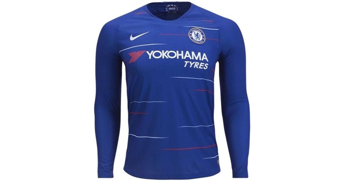 bc449d5b9 Nike 2018-2019 Chelsea Home Long Sleeve Shirt Men s In Blue in Blue for Men  - Lyst