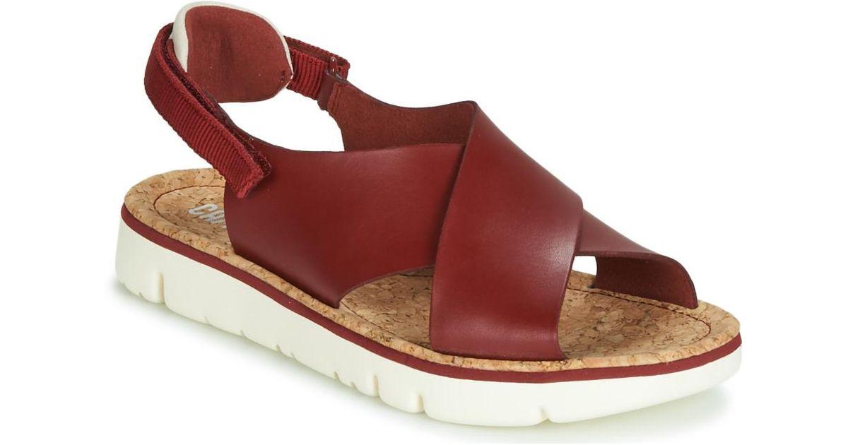 4237ecc8bae1 Camper Oruga Women s Sandals In Red in Red - Lyst