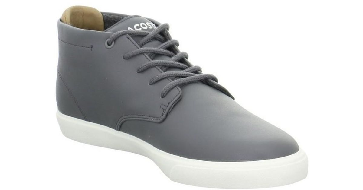 lacoste mens grey trainers factory