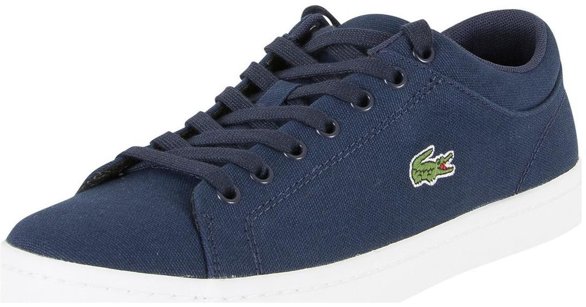 5cbdc2257 Lacoste Navy Straightset Bl 2 Cam Trainers in Blue for Men - Lyst