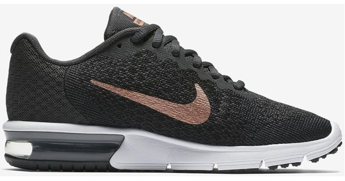 25a1a7f2c1771 Nike Air Max Sequent 2 852465 013 Women s Shoes (trainers) In Multicolour  in Black - Lyst