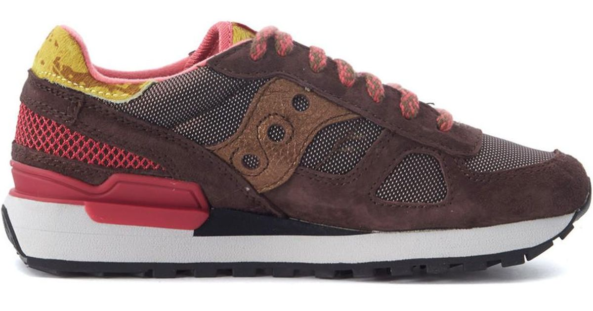 Saucony Sneaker Shadow Limited Edition In Brown Suede And Mesh Fabric W Women s  Trainers In Brown in Brown - Lyst 62439f20f49
