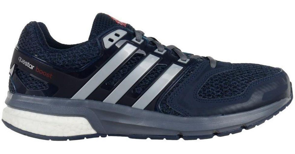 Adidas Questar Boost zapatos de hombres (instructores) en multicolor en azul